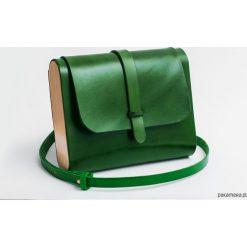 Torebka skórzana z drewnem R-3 zielona. Zielone torebki klasyczne damskie Pakamera, z materiału. Za 390,00 zł.