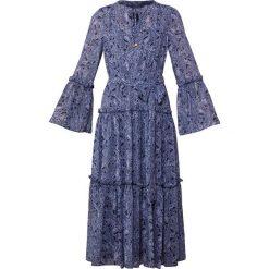 MICHAEL Michael Kors TIERED BOHO DRESS Długa sukienka true navy/light chambray. Niebieskie długie sukienki marki MICHAEL Michael Kors, xs, z materiału, boho, z długim rękawem. Za 1049,00 zł.