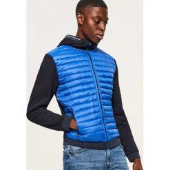 Pikowana bluza z kapturem - Niebieski. Niebieskie bluzy męskie rozpinane Reserved, l, z kapturem. Za 99,99 zł.
