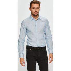 S. Oliver - Koszula. Niebieskie koszule męskie na spinki marki bonprix, m, z nadrukiem, z klasycznym kołnierzykiem, z długim rękawem. Za 169,90 zł.