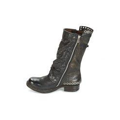 Kozaki Airstep / A.S.98  SAINT EC BUCKLE. Czarne buty zimowe damskie Airstep / A.S.98. Za 1179,00 zł.