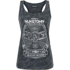 Call Of Duty Welcome to Nuketown Top damski ciemnoszary. Szare topy damskie Call Of Duty, m, z nadrukiem, z okrągłym kołnierzem. Za 42,90 zł.