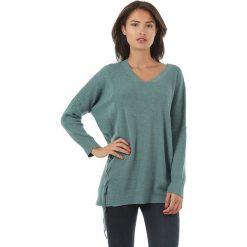 Swetry oversize damskie: Sweter w kolorze zielonym