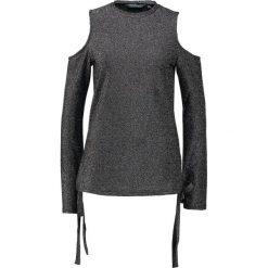 Bluzki asymetryczne: Dorothy Perkins Tall LONG SLEEVE COLD Bluzka z długim rękawem silver