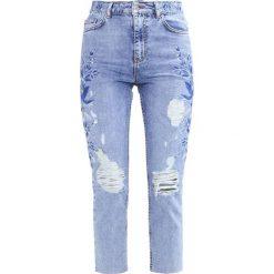Topshop Jeansy Slim Fit blue. Niebieskie rurki damskie Topshop. W wyprzedaży za 186,45 zł.