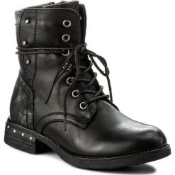 Botki JENNY FAIRY - WS17017-5 Czarny. Czarne buty zimowe damskie Jenny Fairy, ze skóry ekologicznej, na obcasie. Za 129,99 zł.