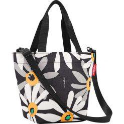 Shopper bag damskie: Torba w kolorze czarno-białym na zakupy – 31 x 21 x 16 cm