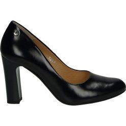Czółenka - 101247 TOS BL. Czarne buty ślubne damskie Venezia, ze skóry. Za 219,00 zł.