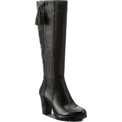 Kozaki JENNY FAIRY - WS16002-5  Czarny. Czarne buty zimowe damskie marki Jenny Fairy, ze skóry ekologicznej. Za 159,99 zł.