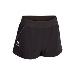 Spodenki tenisowe Sh soft 500 damskie. Czarne szorty damskie ARTENGO, z elastanu. Za 44,99 zł.