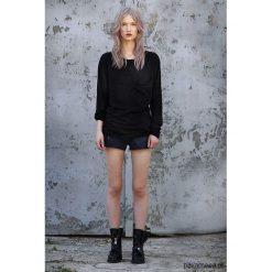 Koszulki polo: czarny tshirt kieszeń długi rękaw