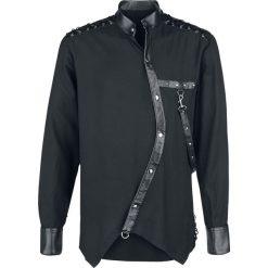 Koszule męskie na spinki: Vintage Goth Koszula czarny