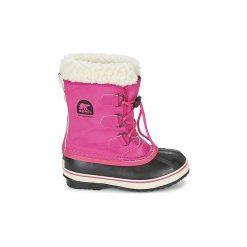 Śniegowce Dziecko Sorel  YOOT PAC NYLON. Czerwone buty zimowe chłopięce Sorel, z nylonu. Za 279,20 zł.