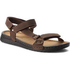 Sandały męskie: Sandały LANETTI - MS17016-1 Brązowy
