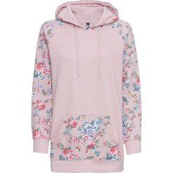 Bluza z kapturem bonprix matowy jasnoróżowy w kwiaty. Czarne bluzy z kapturem damskie marki bonprix, w kwiaty. Za 74,99 zł.