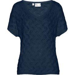 Swetry klasyczne damskie: Sweter ażurowy bonprix ciemnoniebieski