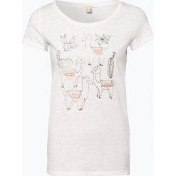 Esprit Casual - T-shirt damski, beżowy. Szare t-shirty damskie marki BE, s, z nadrukiem, eleganckie, z klasycznym kołnierzykiem. Za 59,95 zł.