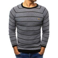 Swetry klasyczne męskie: Sweter męski czarny (wx0818)