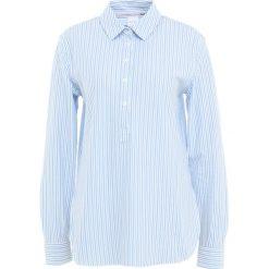 Max Mara Leisure LUCIANA Koszulka polo bianco. Niebieskie t-shirty damskie Max Mara Leisure, xs, z bawełny, polo. Za 849,00 zł.
