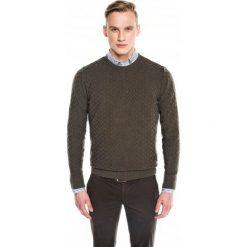 Sweter benson półgolf oliwkowy. Szare swetry klasyczne męskie marki Recman, m, z długim rękawem. Za 89,99 zł.