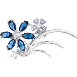 Biżuteria i zegarki: Wyjątkowa Broszka Srebrna – srebro 925, Cyrkonia