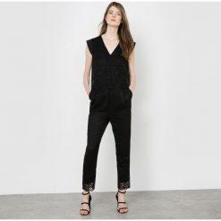 Kombinezony eleganckie: Wieczorowy koronkowy kombinezon ze spodniami