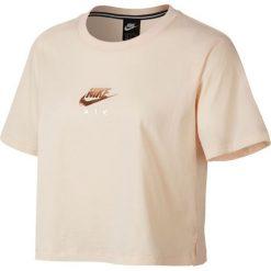 KOSZULKA W NSW AIR TOP SS CROP. Szare bluzki asymetryczne Nike, z bawełny. Za 89,99 zł.