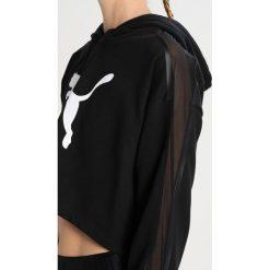 Bluzy rozpinane damskie: Puma ACTIVE CROPPED Bluza z kapturem black