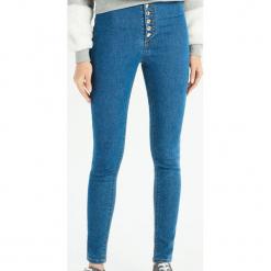 Jeansy super skinny z wysokim stanem - Niebieski. Niebieskie spodnie z wysokim stanem Sinsay, z jeansu. Za 59,99 zł.