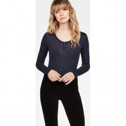 G-Star Raw - Bluzka. Niebieskie bluzki z odkrytymi ramionami marki DOMYOS, z elastanu, street, z okrągłym kołnierzem. Za 279,90 zł.