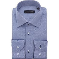 Koszula Granatowa Lopez. Niebieskie koszule męskie na spinki marki LANCERTO, m, z bawełny. W wyprzedaży za 149,90 zł.