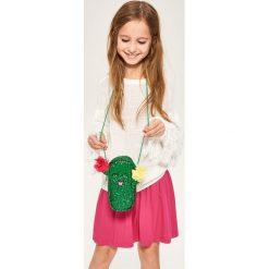 Torebki klasyczne damskie: Torebka kaktus pokryta brokatem – Zielony
