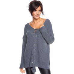 """Swetry klasyczne damskie: Sweter """"Chevilly"""" w kolorze szarym"""