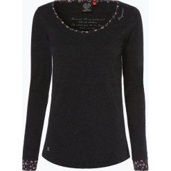 Ragwear - Damska koszulka z długim rękawem – Noira, czarny. Czarne t-shirty damskie marki Ragwear, xs, z nadrukiem, z bawełny. Za 159,95 zł.