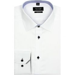 Koszula bexley 2488 długi rękaw slim fit biały. Białe koszule męskie slim marki Reserved, l. Za 139,00 zł.