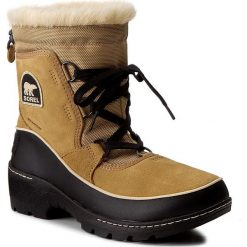 Śniegowce SOREL - Torino NL2785 Curry/Black 373. Brązowe buty zimowe damskie Sorel, z gumy, na niskim obcasie. W wyprzedaży za 349,00 zł.