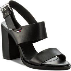 Sandały damskie: Sandały TOMMY JEANS – Cool Leather Heeled Sandal EN0EN00215  Black 990
