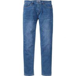 """Dżinsy dresowe Regular Fit Tapered bonprix niebieski """"used"""". Niebieskie jeansy męskie regular bonprix. Za 79,99 zł."""