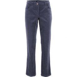 Spodnie sztruksowe ze stretchem bonprix jagodowy. Fioletowe rurki damskie bonprix, ze sztruksu, z obniżonym stanem. Za 79,99 zł.