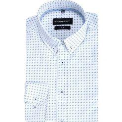 Koszula SIMONE KDWS000373. Białe koszule męskie na spinki Giacomo Conti, m, button down, z długim rękawem. Za 169,00 zł.