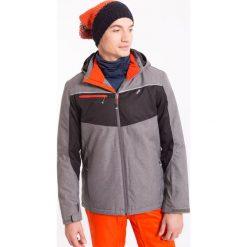 Kurtka narciarska męska KUMN004z - jasny szary melanż - 4F. Szare kurtki męskie pikowane 4f, na jesień, m, melanż, z materiału, z kapturem. Za 269,99 zł.