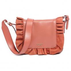 Skórzana torebka w kolorze pomarańczowym - (S)22 x (W)17 x (G)6 cm. Brązowe torebki klasyczne damskie Tosca Blu, w paski, z materiału. W wyprzedaży za 349,95 zł.