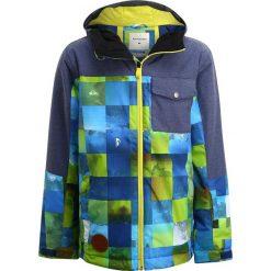 Quiksilver MISS Kurtka snowboardowa blue sulphur icey check. Niebieskie kurtki damskie narciarskie Quiksilver, z materiału. W wyprzedaży za 439,20 zł.