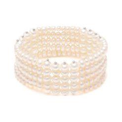 Bransoletki damskie: Bransoletka w kolorze białym z pereł