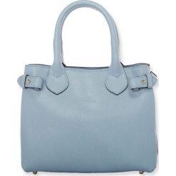 """Torebki klasyczne damskie: Skórzana torebka """"Deborah"""" w kolorze błękitnym – 25 x 19,5 x 12 cm"""