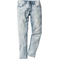 Dżinsy dresowe Skinny Fit Straight bonprix niebieski denim. Niebieskie jeansy męskie relaxed fit marki House. Za 119,99 zł.
