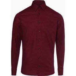 Joop - Koszula męska – Pierce, czerwony. Szare koszule męskie slim marki JOOP!, z bawełny, z klasycznym kołnierzykiem, z długim rękawem. Za 349,95 zł.