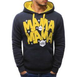 Bluzy męskie: Bluza męska z kapturem grafitowa (bx1538)