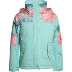 Roxy JETTY BLO  Kurtka snowboardowa neon grapefruit/solargradient. Białe kurtki dziewczęce sportowe marki Roxy, l, z nadrukiem, z materiału. W wyprzedaży za 367,20 zł.