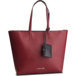 Torebka CALVIN KLEIN - Tack Shopper K60K604833 242. Czerwone shopper bag damskie Calvin Klein, ze skóry ekologicznej. Za 649,00 zł.